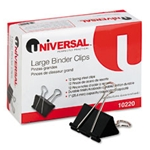 UNIVERSAL 10220 Binder Clips (Large) Dz.
