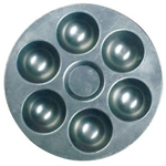 HERITAGE™ Six Well Aluminum Round Tray
