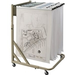 ALVIN® Mobile Pivot Rack for Blueprints