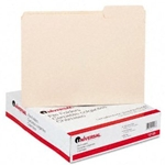 UNIVERSAL Manilla File Folders 1/3 cut 3rd Position 1-ply Top Tabs