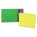 UNIVERSAL Hanging File Folders, 1/5 Tab, 11 Point, Letter, Assorted Colors