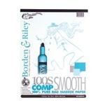 BORDEN & RILEY 100S Smooth Cotton-Comp 100% Rag Marker Layout Paper