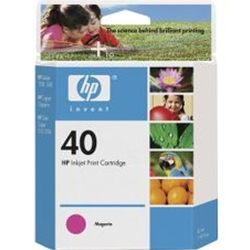 HP #40 Magenta InkJet Print Cartridge (1,600 Yield)