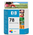 HP #78 Large Tri-Color InkJet Cartridge (970 Yield)