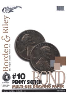 BORDEN RILEY#10 Penny Sketch Bond Pad