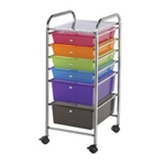 STORAGE CART 6 DWR MULTICOLOR