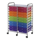 STORAGE CART 20 DWR MULTICOLOR