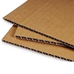 C-Flute, Brown Both Sides Corrugated Board Sheets 36 x 48 x 3/16