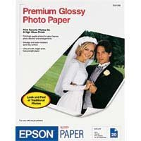 "EPSON Premium Glossy Photo Paper 8.5"" x 11"" (20 sheets/pkg)"