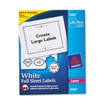 Avery® White Laser Full Sheet Shipping Labels w/ TrueBlock 8.5X11 (100/bx)