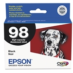 EPSON (98) Claria High-Yield Ink, Black