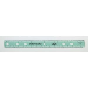 "Plastic 12"" Ring Binder Ruler"