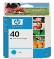 HP #40 Cyan InkJet Print Cartridge (1,600 Yield)