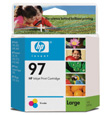 HP #97 Large Tri-Color InkJet Print Cartridge (450 Yield)