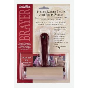 SPEEDBALL Rubber Brayer with Pop-in Roller