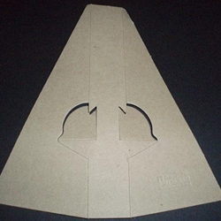 Gray Cardboard Easel Backs Double Wing, Glue On (75 point)