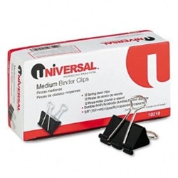 UNIVERSAL 10210 Binder Clips (Medium) Dz.