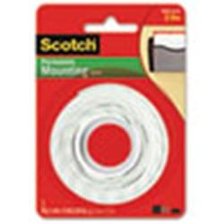 "3M Scotch® Foam Mounting Double-Sided Tape, 1/2"" x 75"""