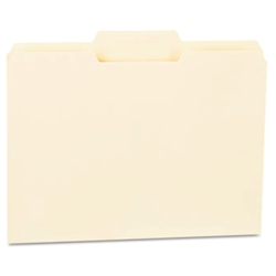 UNIVERSAL Manila File Folders 1/3 cut 2nd Position 1-ply Top Tabs (100/box)