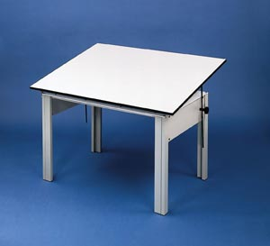 DesignMaster 4-post Office Height Drawing Table