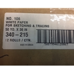 White Tracing Paper Roll #106 36 x 50 12/box