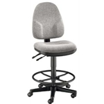 DRAFTING CHAIR MONARCH MED GRY