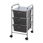 STORAGE CART 3 DWR SMOKE