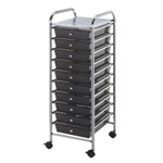 STORAGE CART 10 DWR SMOKE