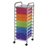 STORAGE CART 10 DWR MULTICOLOR