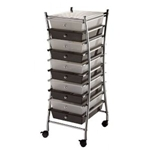 STORAGE CART 10DRWR CLR/SMOKE