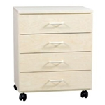 BIRCH TABORET 4 DRAWER