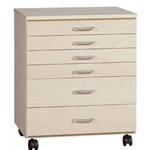 BIRCH TABORET 6 DRAWER