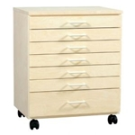 BIRCH TABORET 7 DRAWER