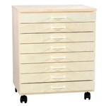 BIRCH TABORET 8 DRAWER