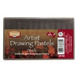 BLACK DRAWING PASTELS SET/12