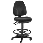 DRAFTING CHAIR MONARCH BLACK